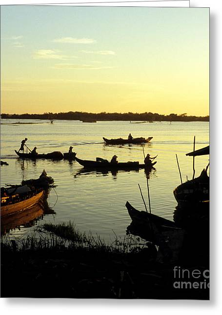 Tonle Greeting Cards - Tonle Sap Sunrise 04 Greeting Card by Rick Piper Photography