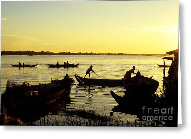 Tonle Greeting Cards - Tonle Sap Sunrise 05 Greeting Card by Rick Piper Photography
