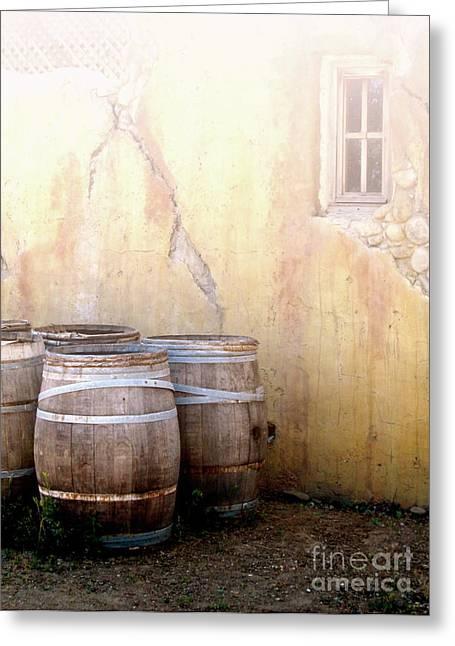 Winery Photography Greeting Cards - Tonneau De Vin Greeting Card by Maureen J Haldeman