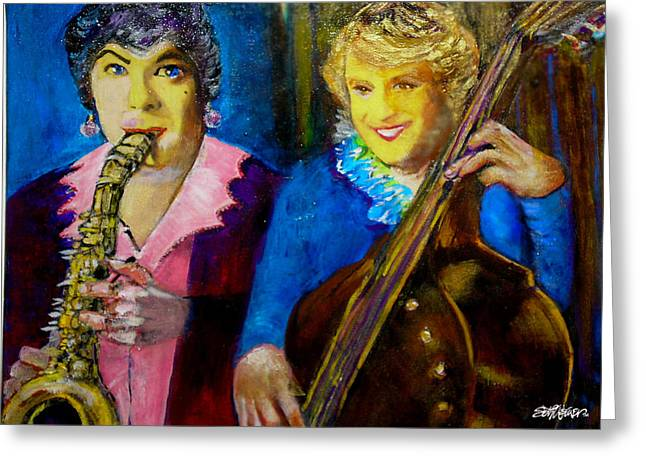 1950s Movies Greeting Cards - Tony and Jack-Some Like It Hot Greeting Card by Seth Weaver