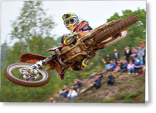 Tony Cairoli Whip Look - Maggiora Mx Opening Greeting Card by Stefano Minella