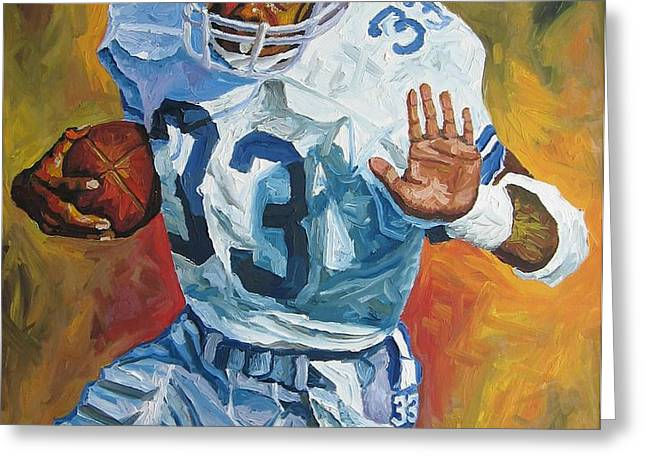 Tony Dorsett - Dallas Cowboys  Greeting Card by Mike Rabe