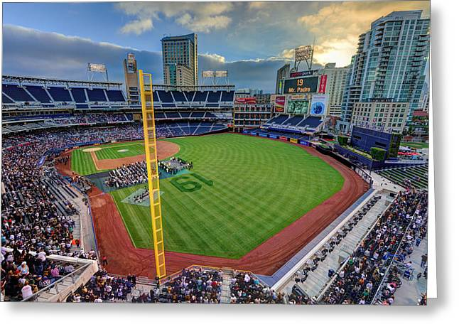 San Diego Padres Stadium Greeting Cards - Tony Gwynn Tribute at Petco Park Greeting Card by Mark Whitt