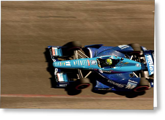 Indy Car Greeting Cards - Tony Kanaan Greeting Card by Denise Dube