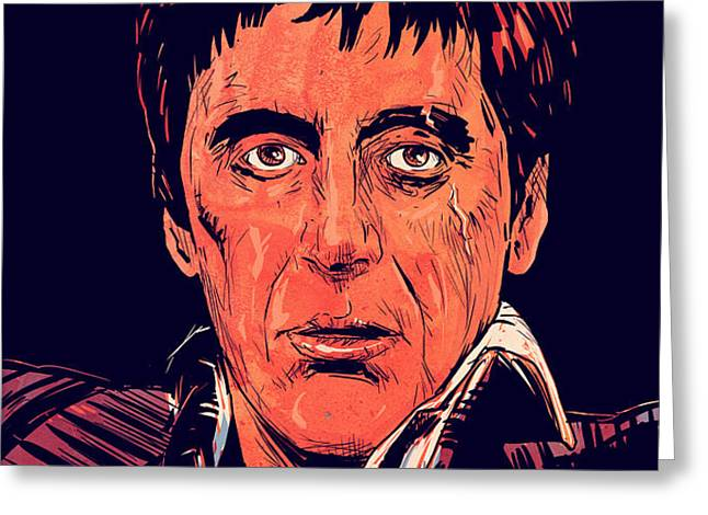 Tony Montana Greeting Card by Giuseppe Cristiano