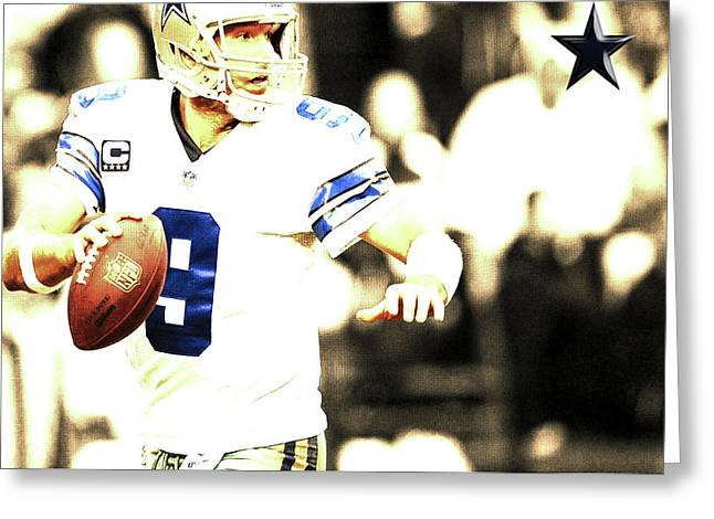 Tony Romo Greeting Card by Brian Reaves