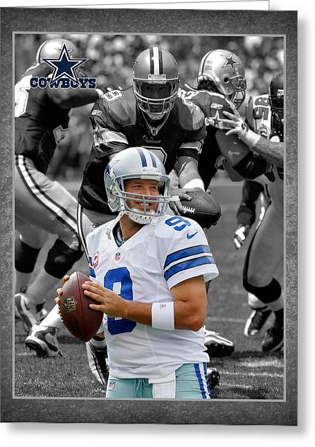 Dallas Photographs Greeting Cards - Tony Romo Cowboys Greeting Card by Joe Hamilton