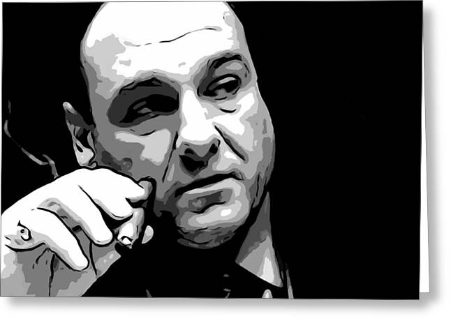 Tony Digital Greeting Cards - Tony Soprano Greeting Card by Dan Sproul