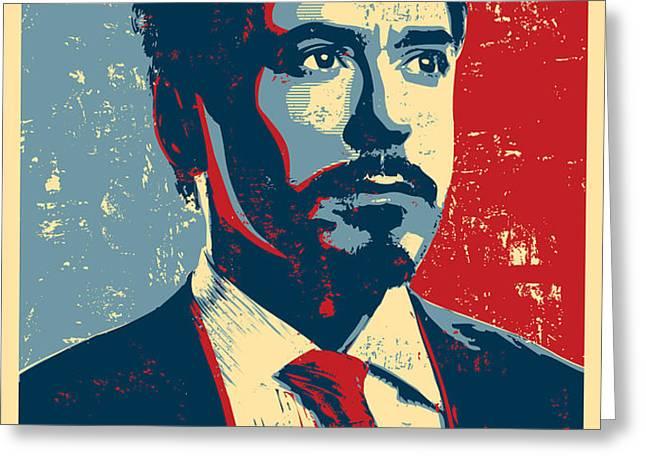 Tony Stark Greeting Card by Caio Caldas