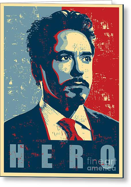 Geometric Art Greeting Cards - Tony Stark Greeting Card by Caio Caldas