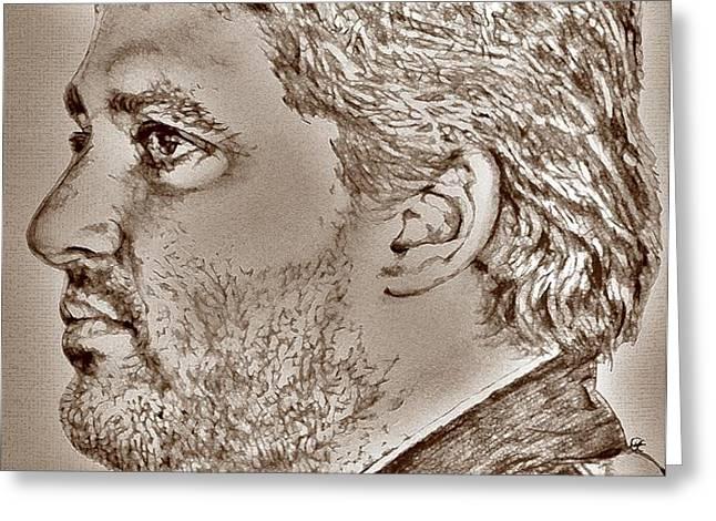 Tony Stewart in 2011 Greeting Card by J McCombie