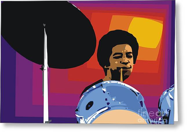 Male Portraits Digital Art Greeting Cards - Tony Williams Greeting Card by Walter Oliver Neal