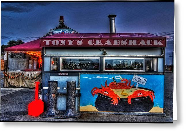 Art Posters Greeting Cards - Tonys Crabshack Greeting Card by Thom Zehrfeld