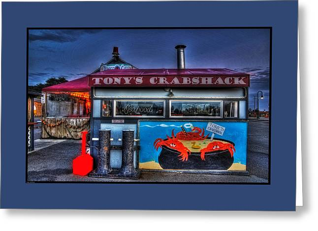 Photo Art Gallery Greeting Cards - Tonys Crabshack Greeting Card by Thom Zehrfeld