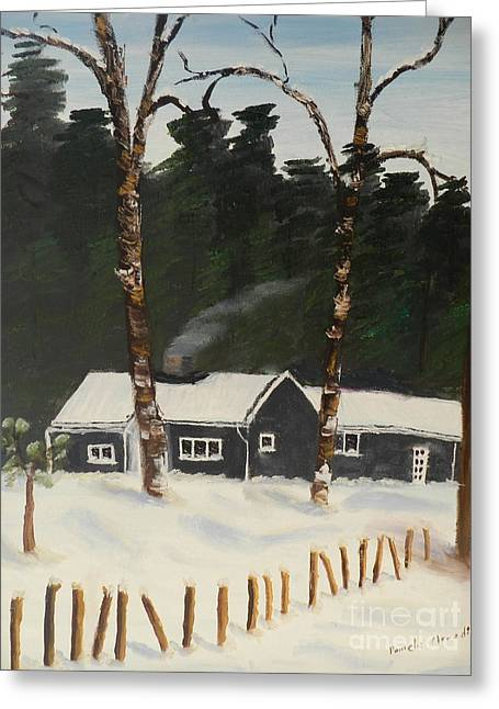 Pamela Meredith Greeting Cards - Tonys House in Sweden Greeting Card by Pamela  Meredith