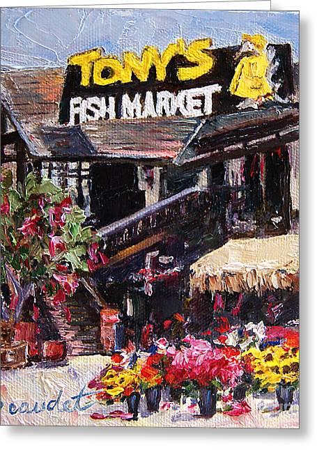 Tony Greeting Cards - Tonys on the Redondo Pier Greeting Card by Jennifer Beaudet
