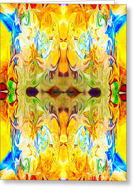 Owfotografik Mixed Media Greeting Cards - Tonys Tower Abstract Pattern Artwork by Tony Witkowski Greeting Card by Omaste Witkowski