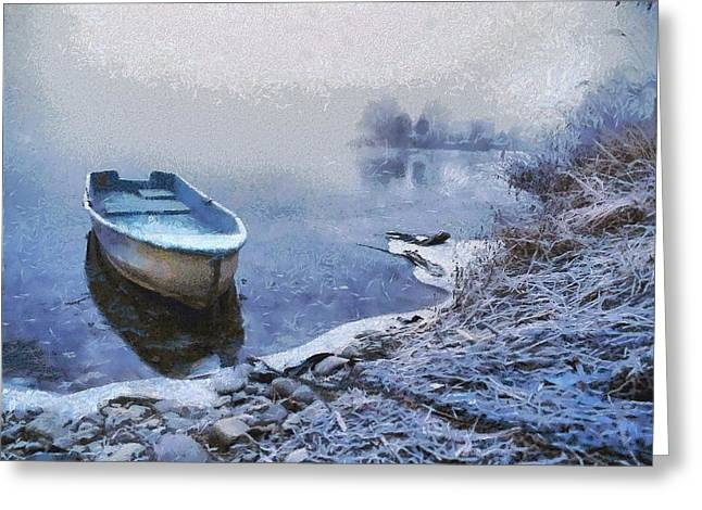 Too Cold For A Boat Trip Greeting Card by Gun Legler