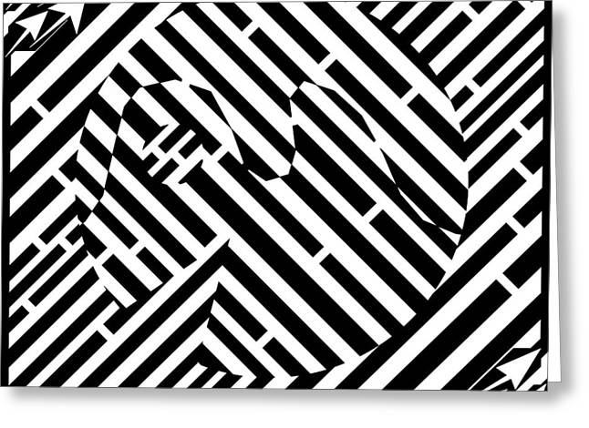 Packman Greeting Cards - Too Handsome to be a Packman maze  Greeting Card by Yonatan Frimer Maze Artist