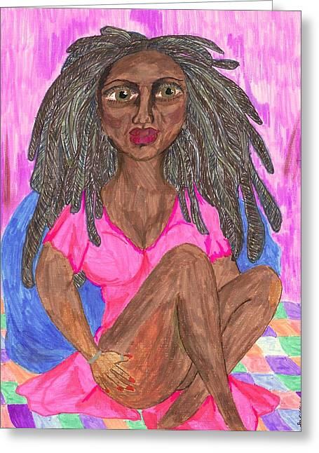 African-americans Greeting Cards - Too Old For Your Crap Greeting Card by Stacey Torres
