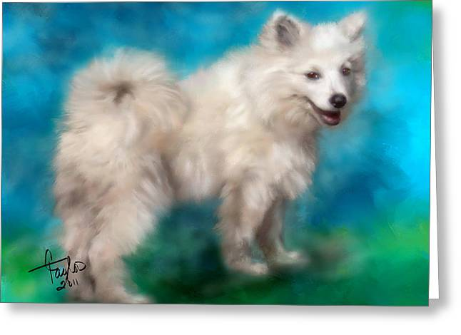 Furry Animals Greeting Cards - Too Sexy For My Fur Greeting Card by Colleen Taylor