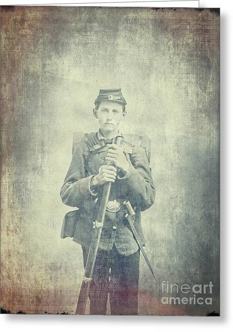 Period Photographs Greeting Cards - Too Young To Die Greeting Card by Edward Fielding