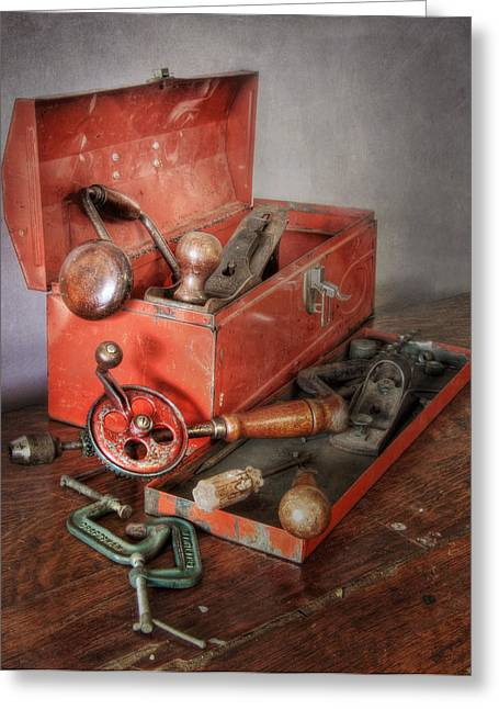 Clamps Greeting Cards - Toolbox 2 Greeting Card by David and Carol Kelly