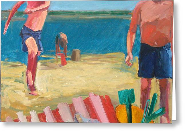 Deckchair Greeting Cards - Tools, 2003 Oil On Panel Greeting Card by Daniel Clarke