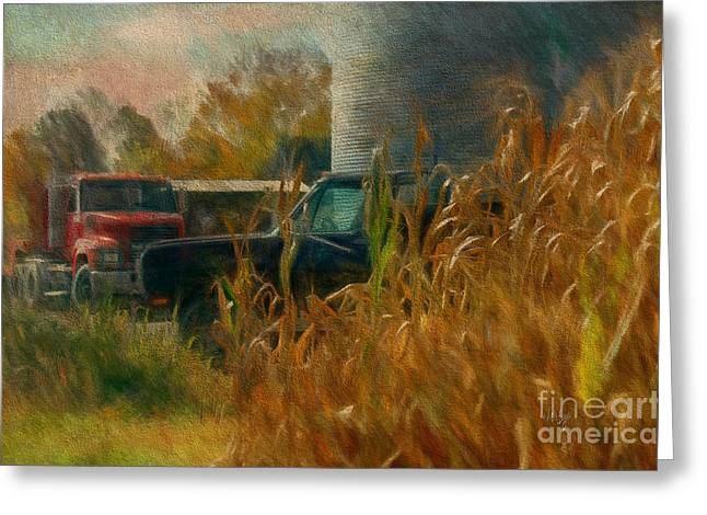 Blue Truck Greeting Cards - Tools Of The Trade Greeting Card by Lois Bryan