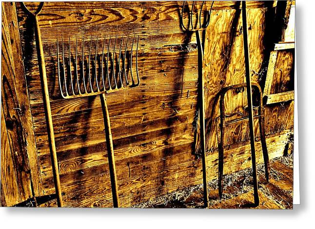 Pitchfork Greeting Cards - Tools of the Trade Greeting Card by Robert Geary