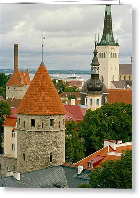 Tallinn Greeting Cards - Toompea View, Old Town, Tallinn, Estonia Greeting Card by Panoramic Images