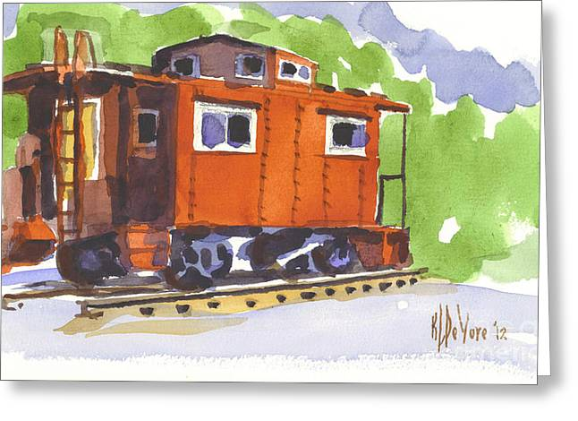 Caboose Greeting Cards - Toot Toot Greeting Card by Kip DeVore