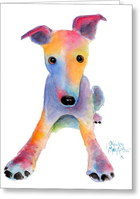 Puppies Mixed Media Greeting Cards - Tooty Fruity Greeting Card by Shirley MacArthur