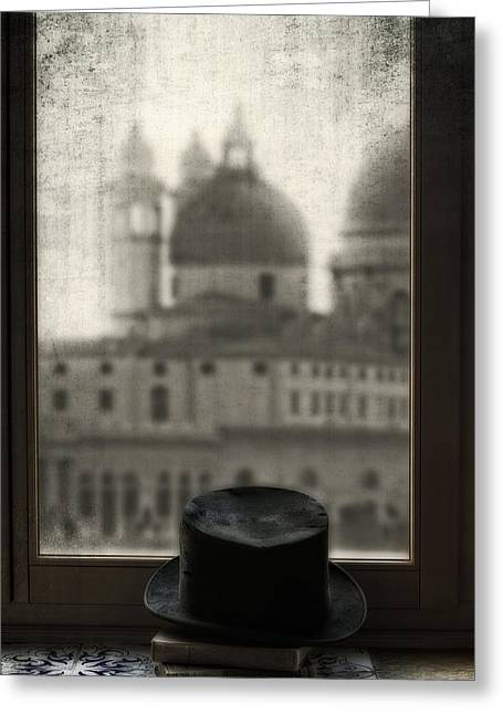Black Top Greeting Cards - Top Hat Greeting Card by Joana Kruse