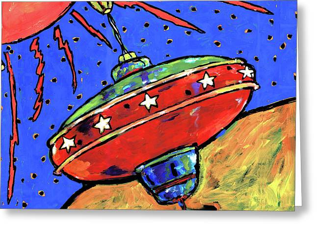 Top In Space Greeting Card by Dale Moses