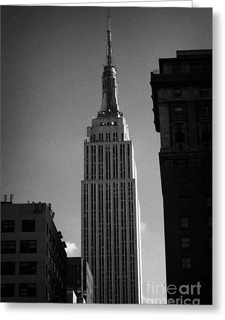 Top Of Empire State Building Manhattan New York City Greeting Card by Joe Fox
