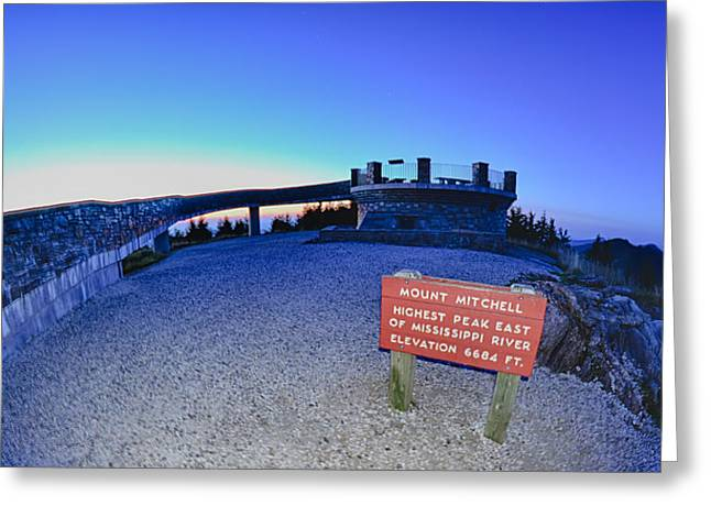 Mountain Road Greeting Cards - Top Of Mount Mitchell After Sunset Greeting Card by Alexandr Grichenko