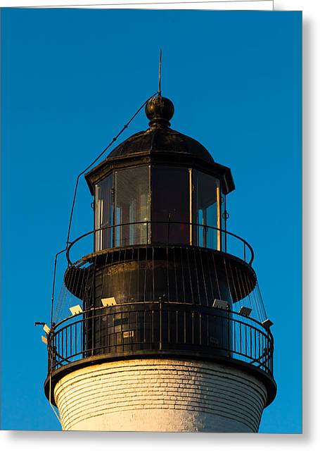 Aid To Navigation Greeting Cards - Top of the Key West Lighthouse  Greeting Card by Ed Gleichman