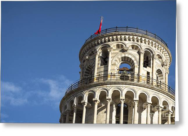 Charly Greeting Cards - Top of the Leaning Tower of Pisa Greeting Card by Prints of Italy