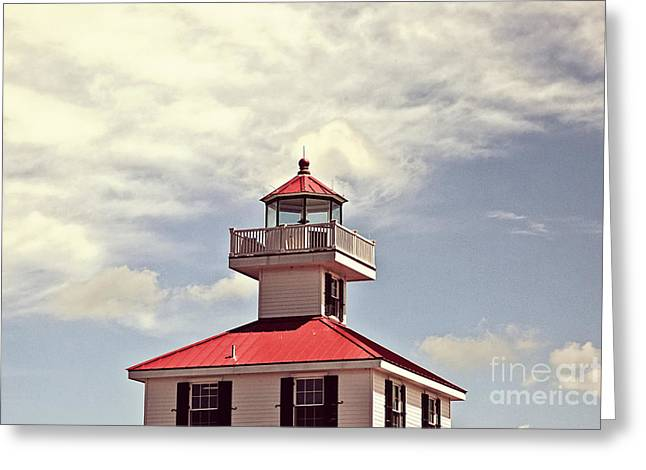Yacht Basin Greeting Cards - Top of the New Canal Lighthouse Greeting Card by Scott Pellegrin
