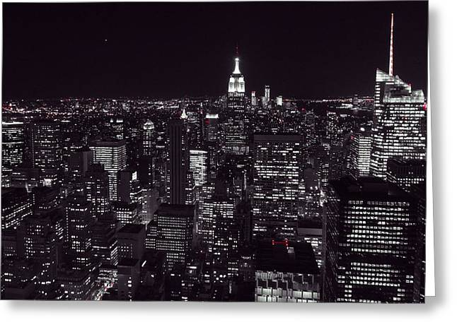Top Of The Rock Greeting Cards - Top Of The Rock In Red Greeting Card by Dan Sproul