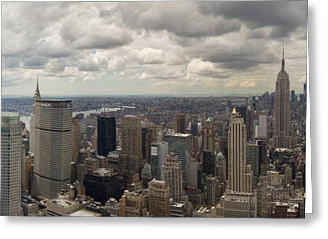 Long Shot Greeting Cards - Top of the Rock view Greeting Card by Gary Eason