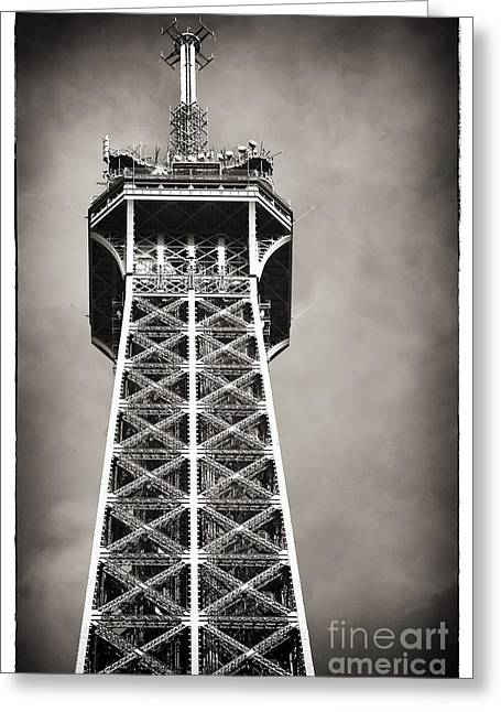 Brown Tones Greeting Cards - Top of the Tower Greeting Card by John Rizzuto