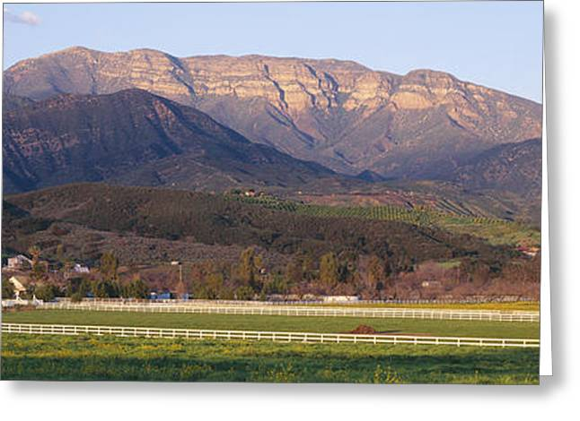 Vale Greeting Cards - Topa Topa Bluffs Overlooking Ranches Greeting Card by Panoramic Images