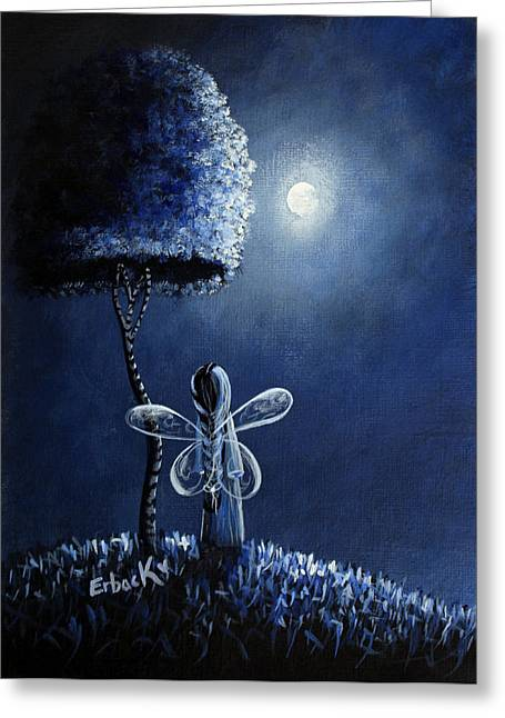 Night Angel Greeting Cards - Topaz Fairy Original Artwork Greeting Card by Shawna Erback