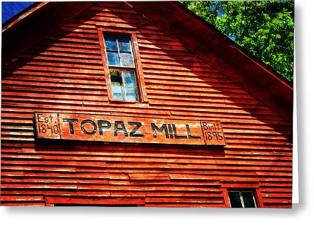 Topaz Greeting Card by Marty Koch