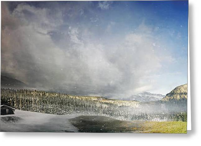 Geology Digital Art Greeting Cards - Topic Of Duality Winter-summer Greeting Card by Tobias Roetsch
