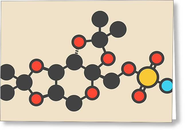 Topiramate Epilepsy Drug Molecule Greeting Card by Molekuul