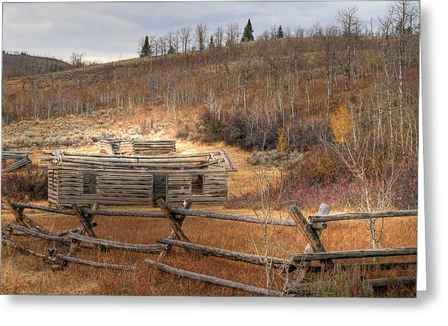 Log Cabins Greeting Cards - Topless Greeting Card by Donna Kennedy