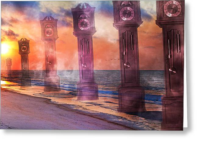 Topsail Island A Matter Of Time Greeting Card by Betsy Knapp